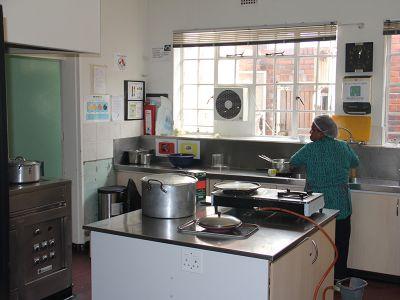 Küche der Klinik