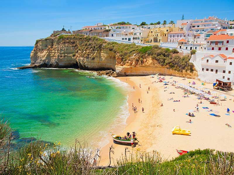 Portugals Algarve Küste