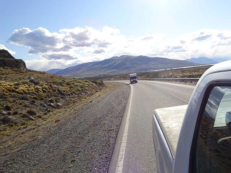 Autofahrt durch Patagonien