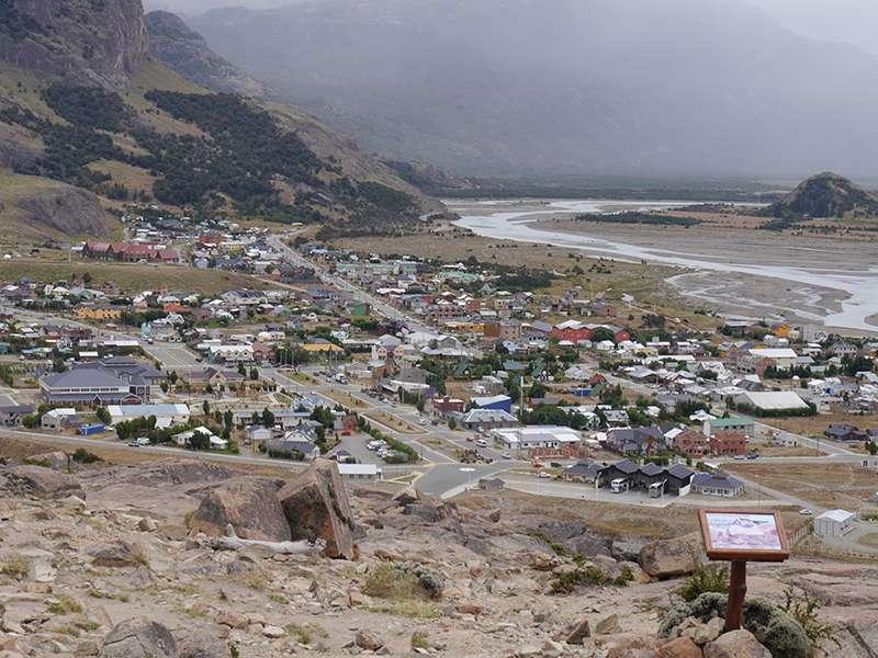 Blick auf El Chaltén