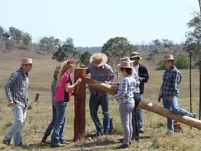 Practical farm work training