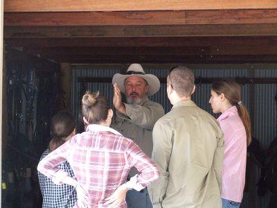 Australian Cowboy teaches ranchwork