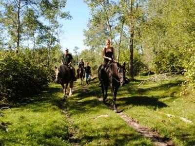 Horse riding excursion Manitoba Canada