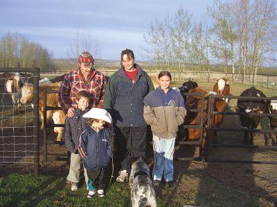 Farm family British Columbia