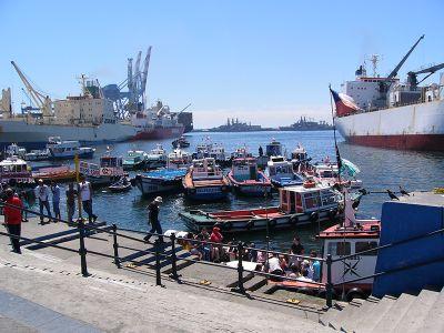 Harbour City Valparaiso Chile