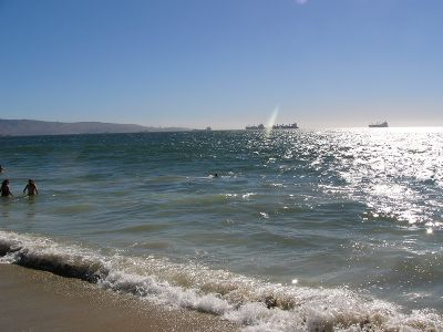 Strand bei Valparaiso