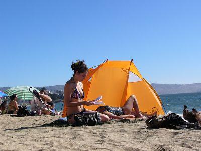Strandleben in Chile