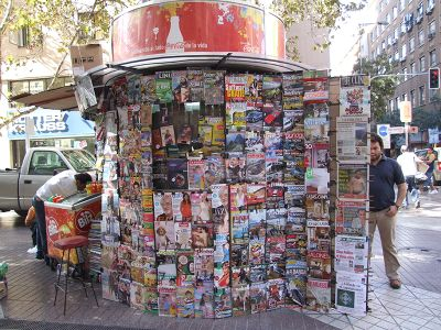 Kiosk in Santiago de Chile
