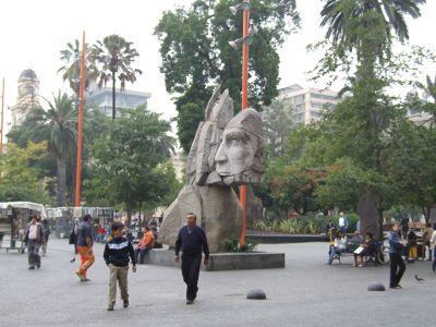 Plaza in Santiago de Chile