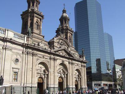 Modernes und koloniales Santiago de Chile