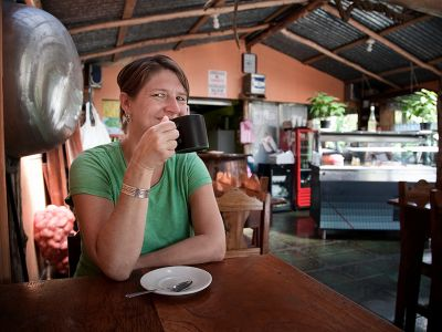 Coffee drinking in Costa Rica