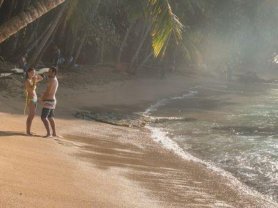 Tropical beach in Costa Rica
