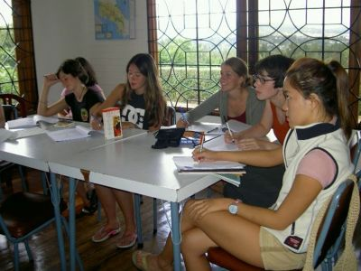 Spanish language students in Costa Rica