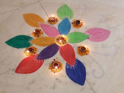 Indian flower art