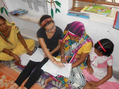 Teaching women in India