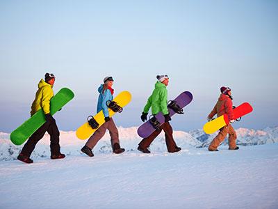 Snowboarding in den neuseeländischen Alpen