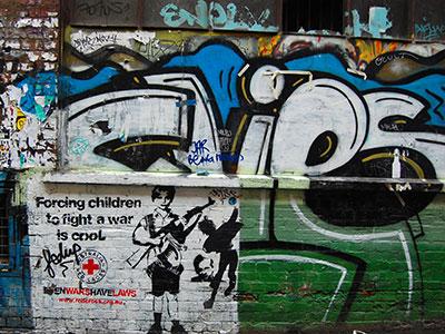 Strassengraffiti in Neuseeland