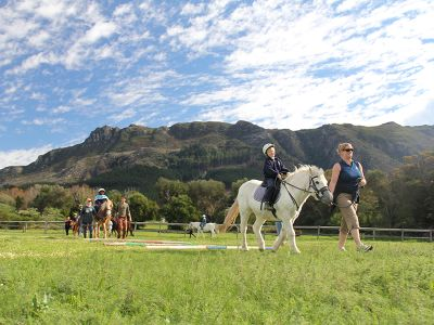 Volunteer project riding for the disabled in Cape Town