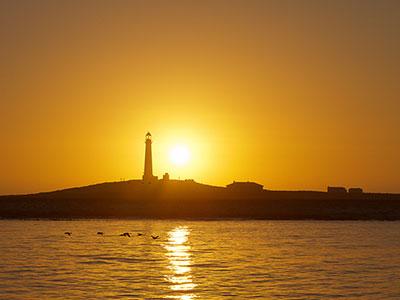Lighthouse sundown coast South Africa