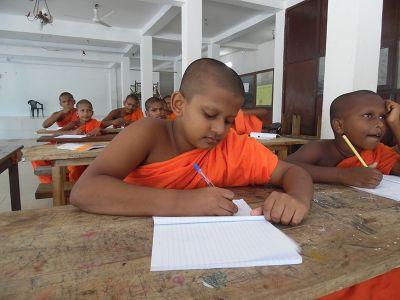 Teaching monks in Sri Lanka