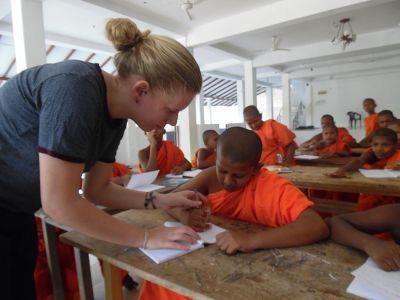 Buddhistic monk school Sri Lanka