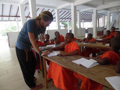 School for prospective monks in Sri Lanka