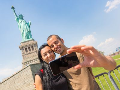 Miss Liberty New York Selfie