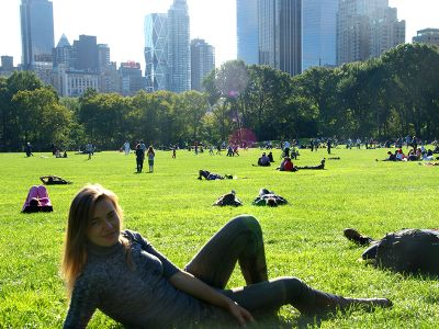 Farmstay participant in New York City Central Park