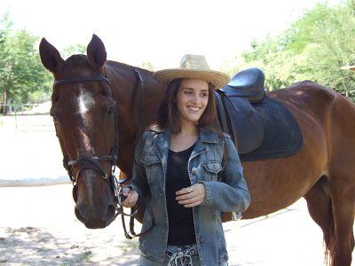 Girl with horse in the USA