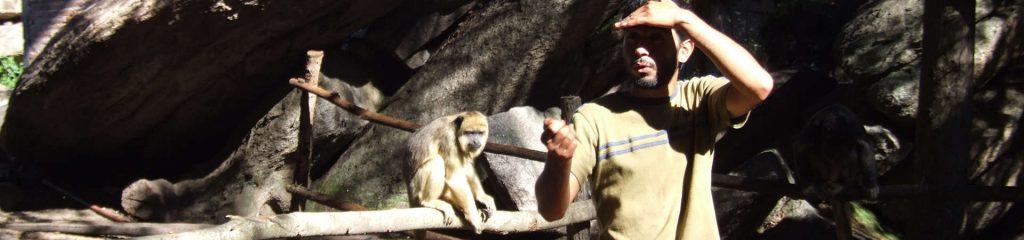 Argentinien Affen Gehege Tierpfleger