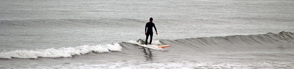 Chile Surfing Surfer on Surfboard