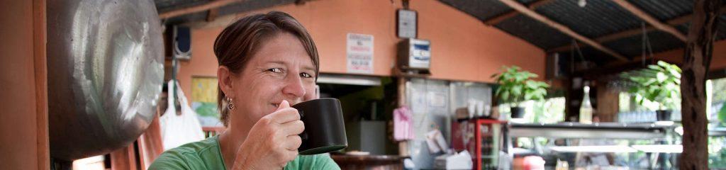 Costa Rica Cafe Waitress