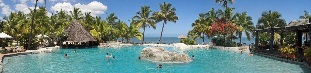 Poolanlage Luxus-Resort in Neuseeland