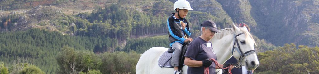 South Africa Cape Town Equine Therapy Child on Horse