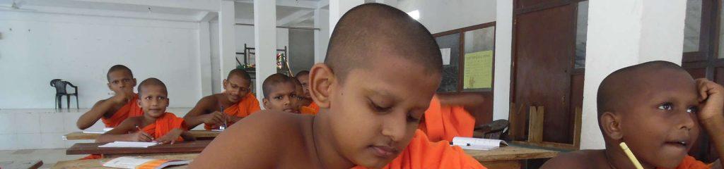 Sri Lanka Monk School classroom