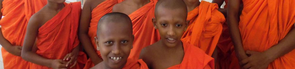 Sri Lanka Monk red clothes